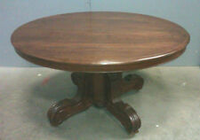 Table ovale a pied central en acajou Epoque Napoleon III