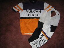 VULCAN CRC RETRO 60's STYLE CYCLING JERSEY & BIB SHORTS [L/XL]