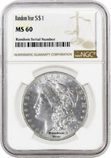 Random Year (1878 - 1904) $1 Morgan Silver Dollar NGC MS60