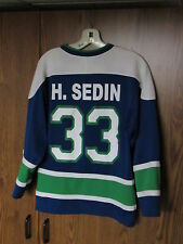 VANCOUVER CANUCKS Jersey Official NHL LOT boy's XXS Maska Henrik Sedin pennant