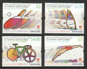HONG KONG CHINA 2021 TOKYO OLYMPIC GAMES 2020 COMP. SET OF 4 STAMPS IN MINT MNH
