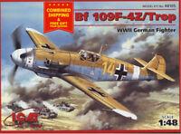 ICM 48105 - 1/48 BF 109F-4Z/TROP Building Airplane Kit Messerschmitt model