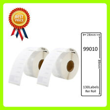 2 Rolls 99010 Labels Compatible for Dymo/Seiko 28 x 89mm 130 labels per roll