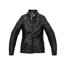 Spidi Ladies Rock Leather Motorcycle Jacket 48 Black (UK 16) Womens Urban Biker