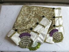 Mackenzie Childs JEWELED THISTLE Elegant Upscale TABLE TOPPER Tablecloth $725