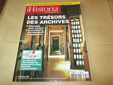 "HISTORIA 678 ""   tresors des archives ""  TBE"