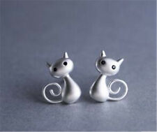 Womens One Pair Cute Cat Drawing Earrings Ear Studs New Allergy Free Jewelry