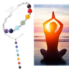7 Gemstone Beads Chakra Yoga Reiki Healing Balance Women Necklace Fashion