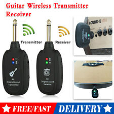 2.4G Guitar Bass Wireless System Transmitter Receiver Rechargeable 50M 4Channels