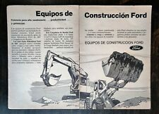 Vintage 1975 Ford Construction Equipment Spanish Espanol Two Page Ad - RARE