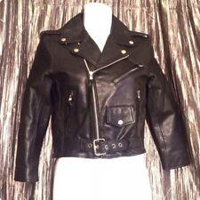 Harley-Davidson Little Boys/' Striped Faux Leather Biker Jacket Black 6084849