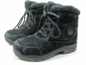 Sorel Water Fall Insulated Waterproof Boots Women size 7.5 Black Suede