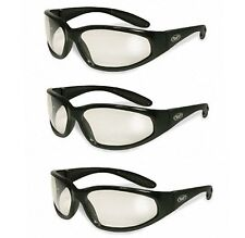 Three Hercules Clear Safety Lens Glasses Motorcycle Cycling Ski Sport Industrial