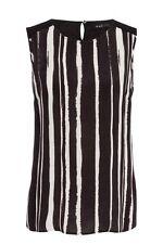 Locker sitzende gestreifte Damenblusen, - tops & -shirts im Passform aus Viskose