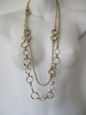 Banana Republic Rattan Layer Necklace Knotted Link Necklace NWT $45 Set of 2