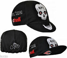 Cinelli Street Kings Cotton Bike Cycling Cap Black Fixed Track Made in Italy