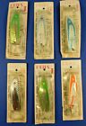 Vintage Eager Rage~Coho,Chinook,Browns & Steel Head Fishing Lure Lot of 6 /USA!