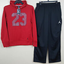 on sale b9073 4e398 Nike Jordan Therma-fit Warm up Suit Hoodie Pants Red Black (size Medium)
