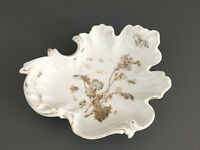 Antique Aesthetic Movement, porcelain candy dish, 1880's 1890's Germany
