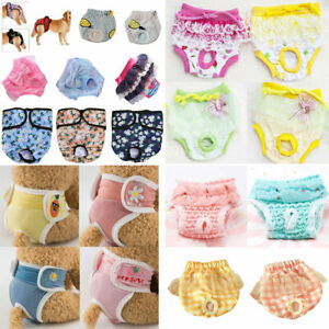 Female Pet Dog Puppy Physiological Pants Sanitary Nappy Diaper Shorts Underwear.