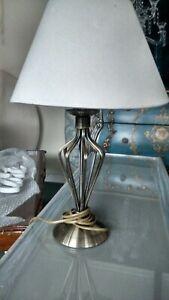 Small metal twist lamp.