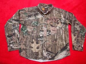 Browning Jr Youth Boys Button-Up Long Sleeve Camouflage Camo Shirt  XL