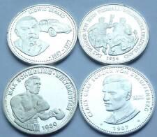 4 Medaillen 4 x 10 Gramm Silber - mit Max Schmeling,Ludwig Erhard,Fritz Walter