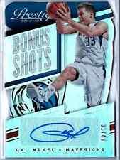 2014-15 Panini Certified Basketball Gal Mekel Bonus Shots Auto /49 Mavericks