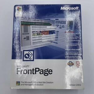 Microsoft FrontPage 2002 Full Version for Windows 392-01099