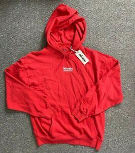 Mens Wrangler New Crewneck Jumper Sweater Oversized Baggy Red Size M Medium 393