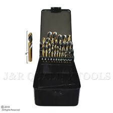 29PC Stubby Industrial Black & Gold Drill Bit Set 135 degree split Point