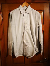 Loro Piana Men's Pale Blue Green Shirt Size Large Great Condition 100% Cotton