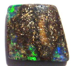 Natural Australian Boulder Opal Solid Loose Cut Stone 14x12mm (1799)