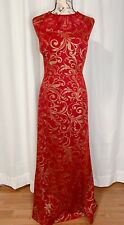 Red And Gold Dress Size 16W
