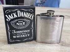 QUALITY STAINLESS STEEL  JACK DANIELS 6 oz HIP FLASK - BNIB