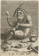 16th Century Devil Satan Diable Ogre Diablo Lucifer French Art 7x5 Inch Reprint