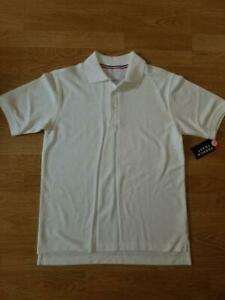 Boys short sleeve French Toast White Polo Uniform Shirt XL 14/16 NWT NEW