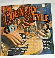 Country Style K-Tel Presents 20 Great Hits 1977 Vintage LP Record K-Tel WC 327