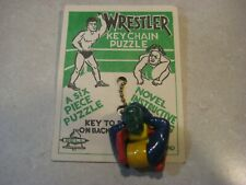 Vintage 1950's WRESTLER Keychain Puzzle - Made in England by BELL