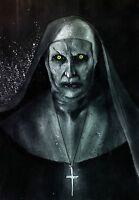 """THE NUN VALAK - FRAMED 20""""X30"""" INCH A1 CANVAS - HORROR HALLOWEEN SCARY CONJURING"""