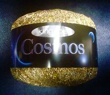 King Cole COSMOS Yarn Orbit #1098 GOLD With IRIDESCENT SEQUIN SPARKLE!