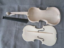 1pcs unfinished violin 4/4 Canada Flame Maple Russian Spruce Hand made Unglue
