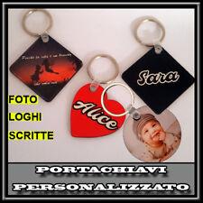 PORTACHIAVI  PERSONALIZZABILE CON FOTO,TESTO,DEDICA IDEA REGALO PORTA CHIAVI