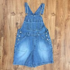 Disney Bib Overall Shorts 100% Cotton Shortalls Great Pockets Womens Size M