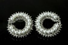 Pearl (Imitation) Stud Round Costume Earrings