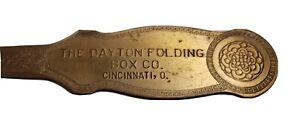 The Dayton Folding Box Co Cincinnati Ohio Antique Advertising Letter Opener