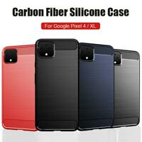 For Google Pixel 4 XL Slim Clear Black Carbon Fibre Shockproof Phone Case Cover