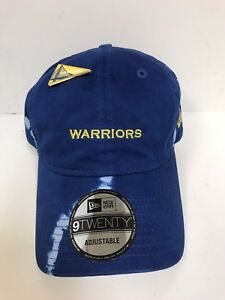 Golden State Warriors Cap w/ Pin New Era 9Twenty Blue Tie Dye Adjustable