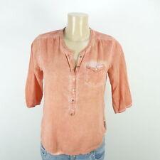 MAISON SCOTCH Bluse Tunika 3/4-Arm Orange Gr. 1 DE 36