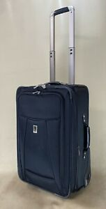 """Travelpro Crew 6 Black 22"""" Wheeled Carry On Expandable Suitor Suitcase 407062201"""